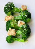 Steamed broccoli dish Royalty Free Stock Image