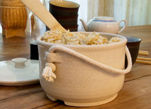 Steamed Brown Rice Stock Photos
