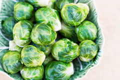 Steamed Brussel Sprouts Stock Image
