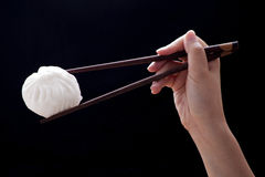 Steamed bun with chopsticks (Dim Sum) Stock Image