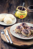Steamed bun with jam from yeast dough Royalty Free Stock Image