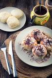 Steamed bun with jam from yeast dough Royalty Free Stock Photos