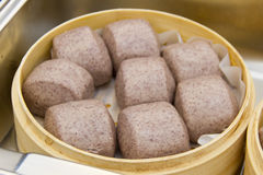 Steamed bun in steamer Royalty Free Stock Images
