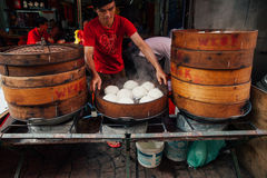 Steamed buns food stall in Chinatown, Kuala Lumpur, Malaysia Stock Photography