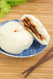 Steamed buns on plate , Baozi Royalty Free Stock Photography