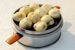 Steamed buns with stuffing Royalty Free Stock Image