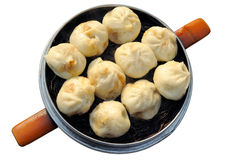 Steamed buns with stuffing Stock Images