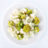 Steamed cauliflower and broccoli Stock Photography