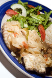 Steamed cavalli kingfish caribbean style Stock Images
