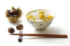 Steamed chestnut rice Royalty Free Stock Photo