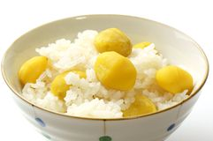 Steamed chestnut rice Royalty Free Stock Images