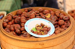 Steamed Chestnuts for Sale Stock Images