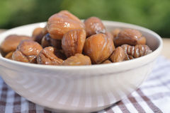 Steamed chestnuts Royalty Free Stock Photo