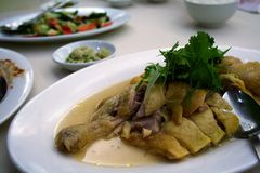 Steamed chicken. A dish of steamed chicken in a Chinese restaurant stock photography