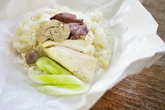 Steamed chicken with rice Stock Photos