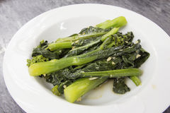 Steamed Chinese Kai Lan Vegetables Royalty Free Stock Image