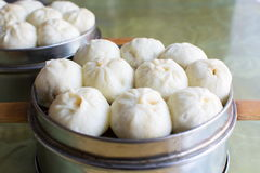 Steamed Chinese Meat Buns Baozi. In a bowl Royalty Free Stock Images