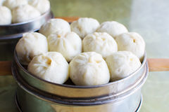 Steamed Chinese Meat Buns Baozi. In a bowl Stock Photography