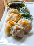 Steamed chives dumplings Royalty Free Stock Photography