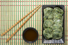 Steamed chives dumplings Royalty Free Stock Photos
