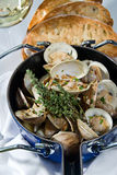 Steamed clams Royalty Free Stock Image