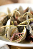 Steamed Clams Stock Photography