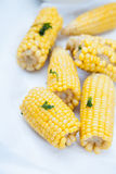 Steamed corn on the cob Royalty Free Stock Image