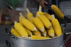 Steamed corn. Koh Phangan's walking street market, street food Stock Photography