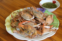 Steamed crab in dish Royalty Free Stock Photography