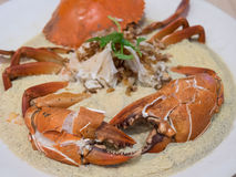 Steamed Crab with Egg Royalty Free Stock Photography