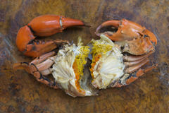 Steamed crab with eggs Stock Photography