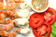 Steamed crab legs Stock Photography