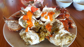 Steamed crab legs , seafood, thai style Royalty Free Stock Images