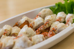 Steamed crab legs of thai food Royalty Free Stock Photo