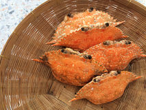 Steamed crab. Seafood in basket Royalty Free Stock Photos
