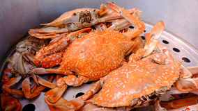 Steamed crab, Thai food Royalty Free Stock Images