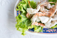 Steamed crab, Thai sea food Stock Photo
