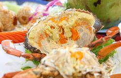 Steamed Crab with egg. royalty free stock image