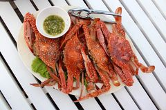 Steamed crabs food Stock Photos