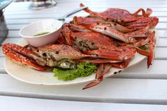 Steamed crabs food Royalty Free Stock Image