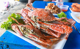 Free Steamed Crabs In Thai Style Royalty Free Stock Image - 30965016