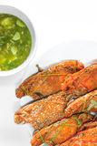 Steamed crabs and seafood. Fresh steamed crabs and seafood sauce Stock Image