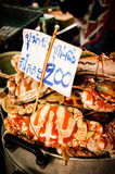 Steamed crabs. In Thailand, Thailand Seafood stalls Royalty Free Stock Photos