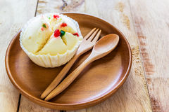 Steamed Cup Cake Royalty Free Stock Images