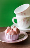 Steamed cup cake Stock Photos