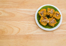 Steamed curry seafood cake Royalty Free Stock Photography