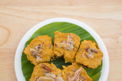 Steamed curry seafood cake Royalty Free Stock Photo