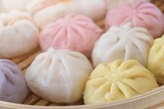Steamed dumpling buns Royalty Free Stock Photos
