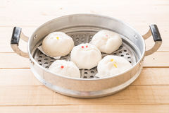 Steamed dumpling or chinese bun Royalty Free Stock Photography
