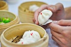 Steamed dumpling and dimsum Stock Images